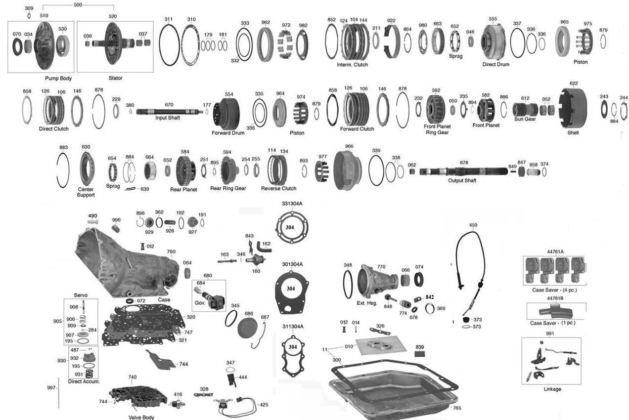 350 Transmission Parts Diagram Trans Parts Online