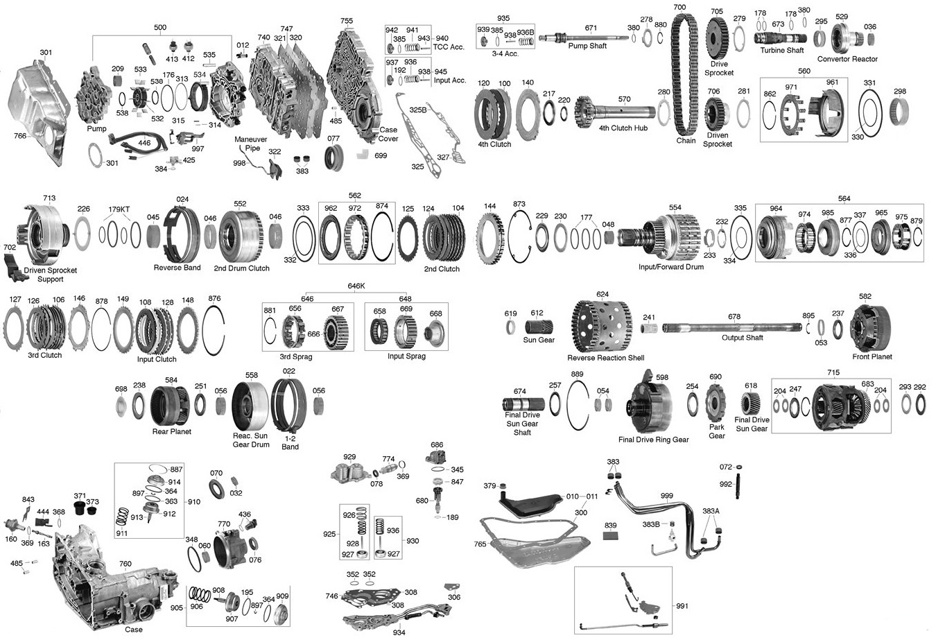 Trans Parts Online 440t4 Transmission Th200 Wiring Diagram Click On Image To Zoom