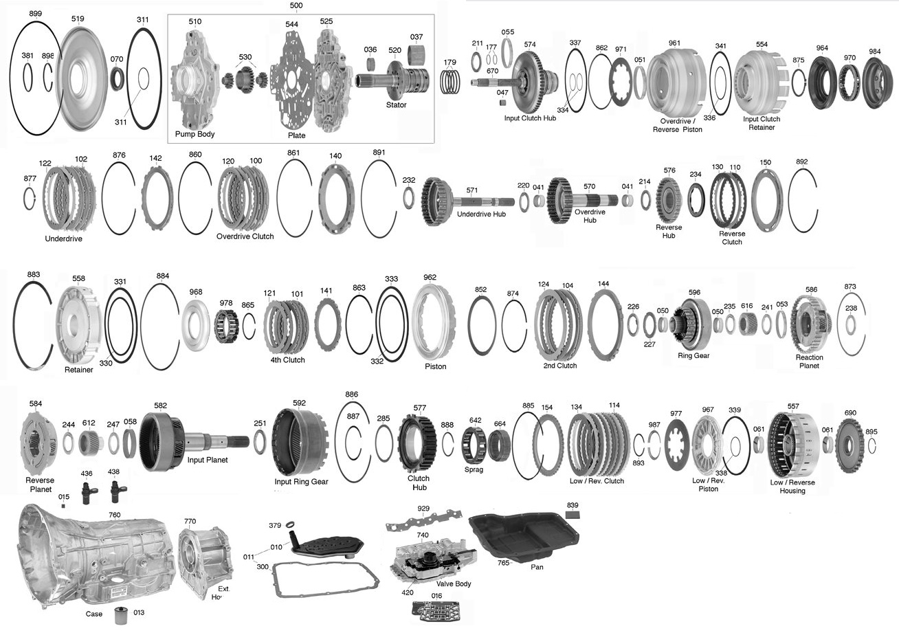 trans parts online 45rfe 45rfe transmission parts 2005 Dakota 3.7 545RFE click on image to zoom