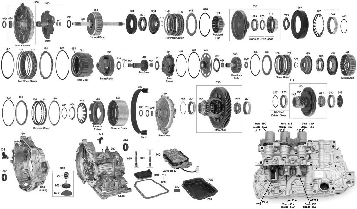 ford 4f27e transmission diagram
