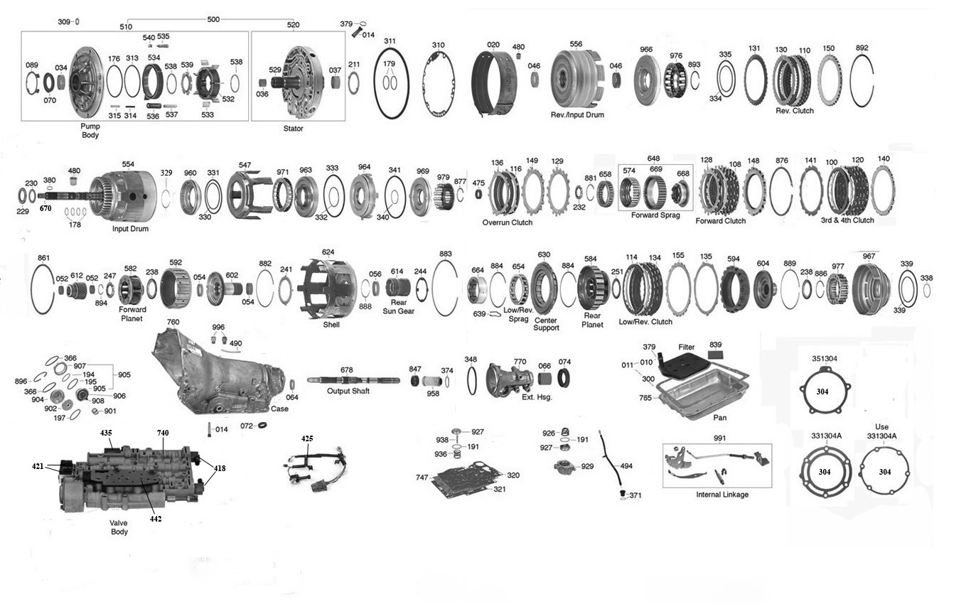 4l60e Diagram With Parts List Wiring 1998 Dodge Dakota Manual Transmission Trans Online 700 Partsclick On Image To Zoom