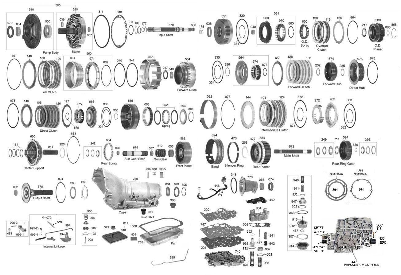 trans parts online 4l80 4l80 transmission parts wiring diagram 4l60e transmission exploded view wiring diagram for transmission #11