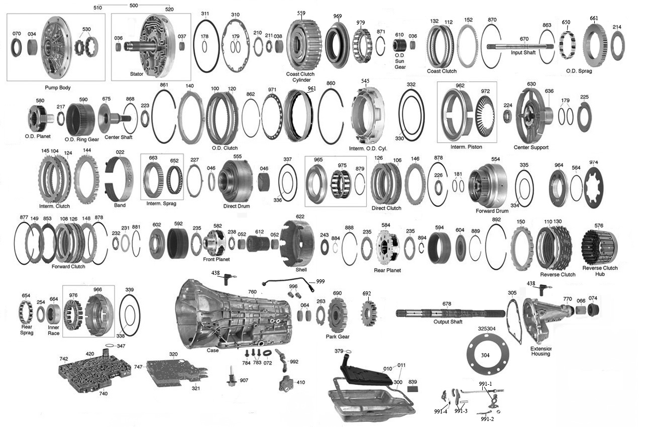 ford c6 automatic transmission diagram