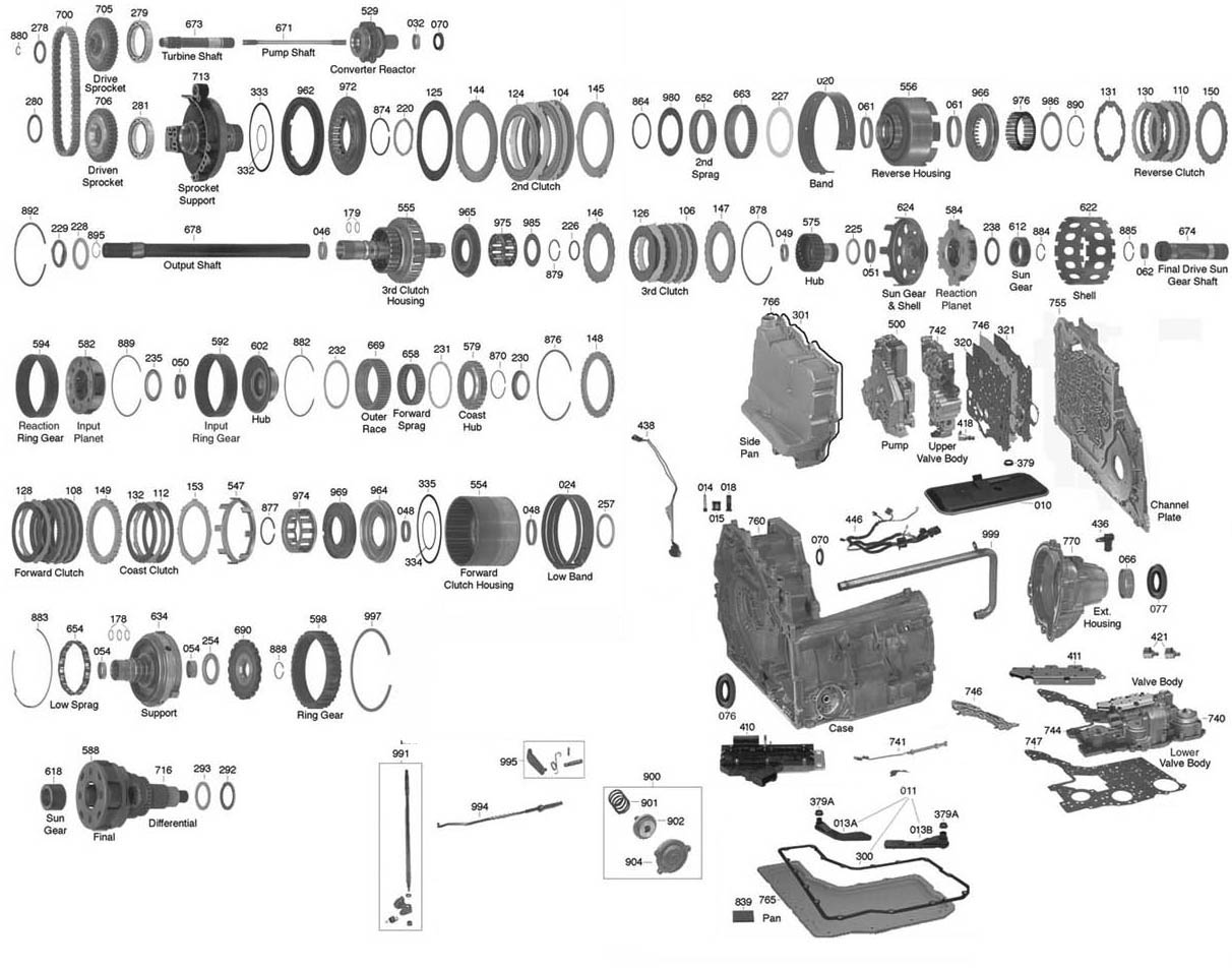 4t65e transmission exploded view