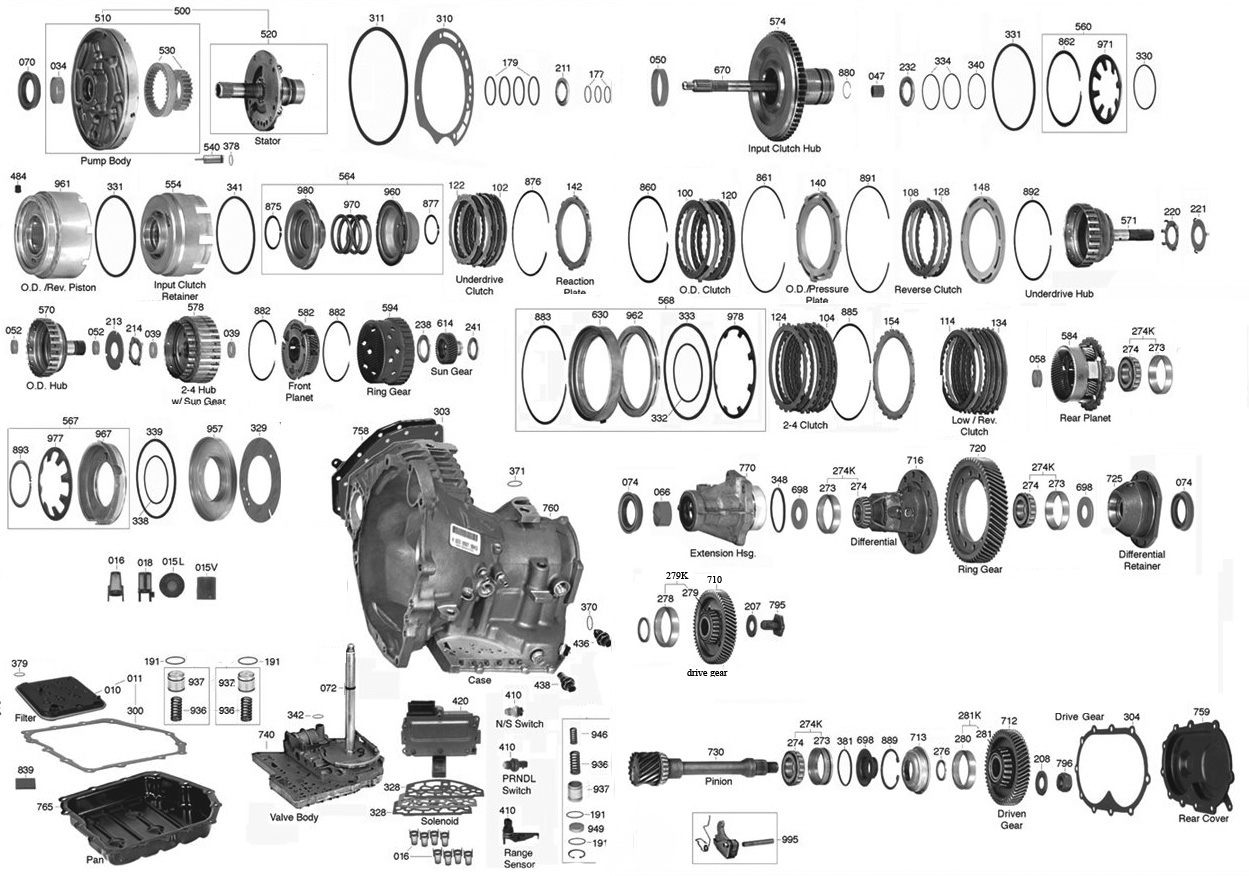 41te transmission diagram