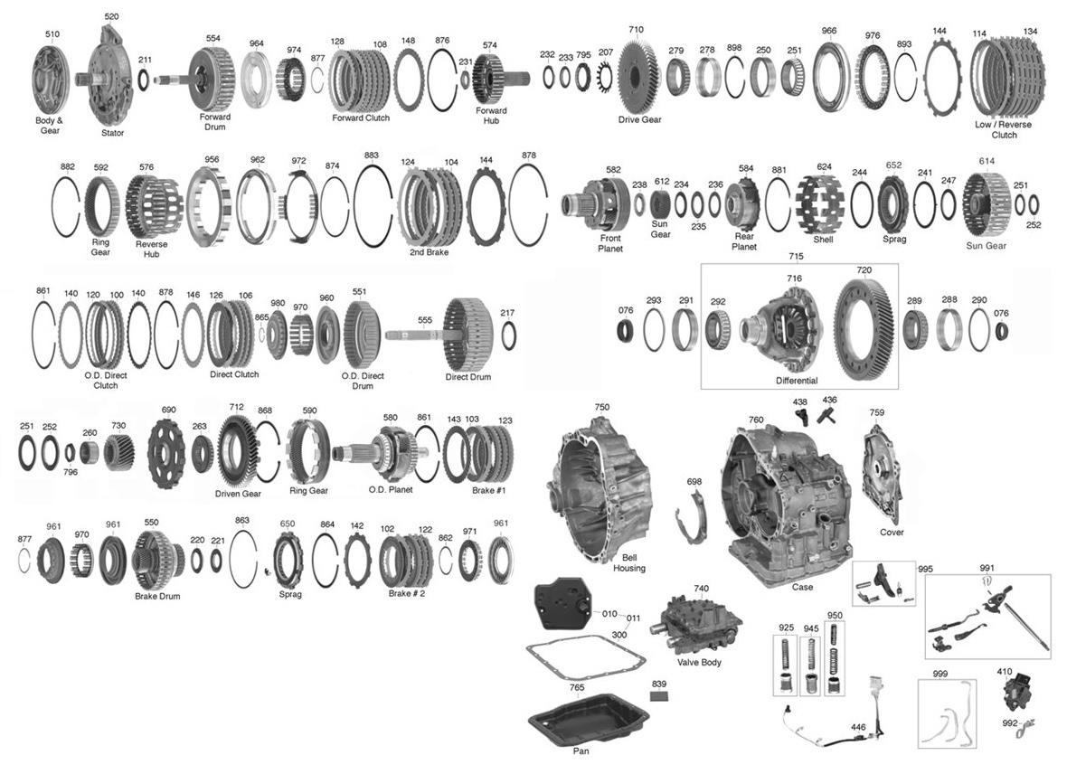U150 Transmission Parts Diagram Trans Parts Online